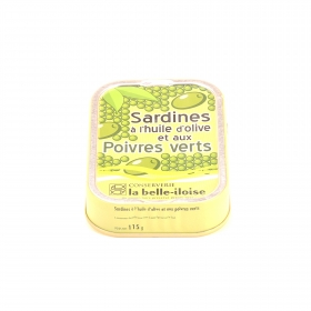 Sardines à l'Huile d'Olive et aux Poivres Verts