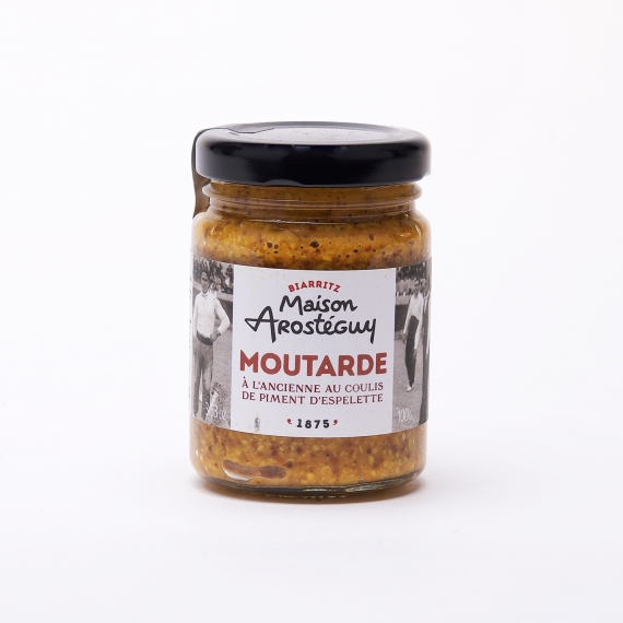 Moutarde à l'Ancienne au Coulis Piment d'Espelette