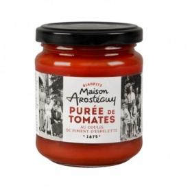 Purée de Tomates au coulis de Piment d'Espelette