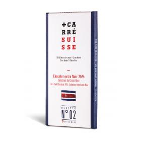 N°02 Chocolat Extra Noir 75% – Sélection du Costa Rica