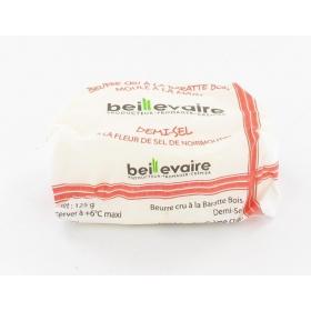 Beurre cru 125 gr demi sel